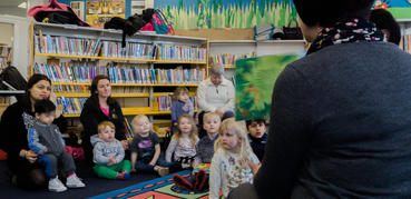 Story time group in a library
