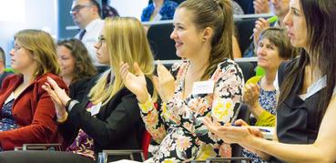 Delegates at 2019 seminar clapping